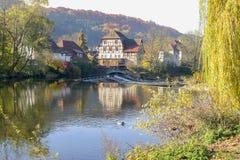 dorp in Hohenlohe royalty-vrije stock fotografie