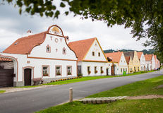 Dorp Holasovice, Tsjechische Republiek. Unesco royalty-vrije stock fotografie