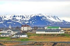 Dorp in IJsland royalty-vrije stock fotografie