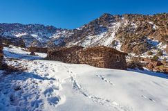 Dorp Imlil, Hoge Atlasbergen, het Nationale Park van Toubkal royalty-vrije stock foto's