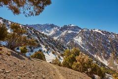 Dorp Imlil, Hoge Atlasbergen, het Nationale Park van Toubkal stock foto