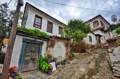 Dorp in Izmir Turkije Sirince royalty-vrije stock fotografie