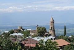 Dorp in Kakheti oostelijk Georgië Royalty-vrije Stock Foto's