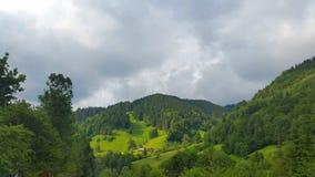 Dorp in Karpatische bergen Stock Afbeelding