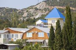 Dorp in Krimbergen. stock afbeelding