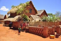 Dorp in Madagascar royalty-vrije stock foto's