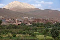 Dorp in Marokko. Royalty-vrije Stock Foto's