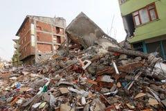 Dorp na Aardbeving Stock Foto