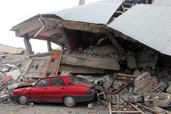 Dorp na Aardbeving Stock Afbeeldingen