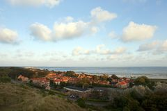Dorp Oost弗利兰岛;村庄Oost弗利兰岛(荷兰) 免版税库存图片