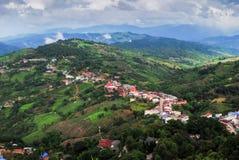 Dorp op de berg - het noorden van Thailand Royalty-vrije Stock Foto's
