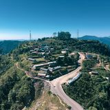 Dorp op de rand van Katmandu stock afbeeldingen