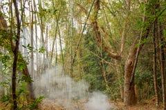 Dorp op de rivier Kwai stock afbeelding