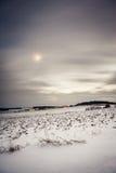 Dorp op de sneeuwgebieden Stock Fotografie
