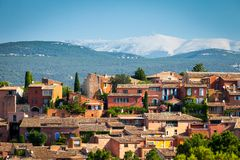 Dorp Roussillon in de Provence, Frankrijk royalty-vrije stock foto's