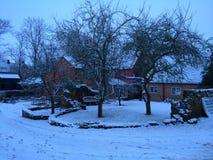 Dorp in sneeuw Royalty-vrije Stock Fotografie