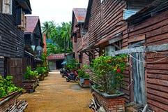 Dorp in Thailand Stock Afbeelding