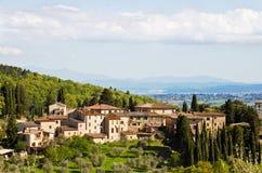 Dorp in Toscanië. Stock Foto's