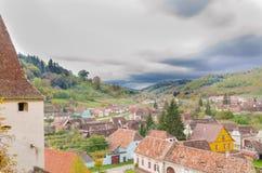 Dorp in Transilvania Royalty-vrije Stock Foto