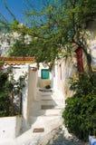 Dorp van Anafiotika in Athene Stock Afbeelding