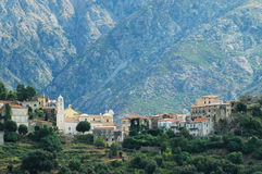 Dorp van Belgodere in Balagne, Corsica stock foto