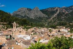 Dorp van Bunyola Mallorca Stock Foto's