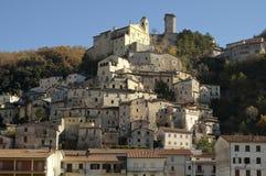 Dorp van Cantalice, Rieti, centraal Italië Royalty-vrije Stock Fotografie