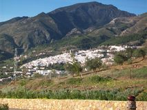 Dorp van Casarabonela- panoramisch-Andalusia-Spanje-Europa Royalty-vrije Stock Foto