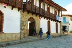 Dorp van Chacas, Peru Stock Foto's
