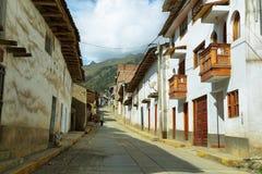 Dorp van Chacas, Peru Stock Foto