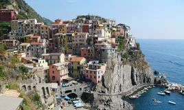 Dorp van Cinque Terre Royalty-vrije Stock Foto