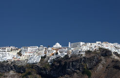 Dorp van Fira op Santorini Stock Foto