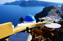 Dorp van Fira in Santorini, Griekenland Royalty-vrije Stock Foto's