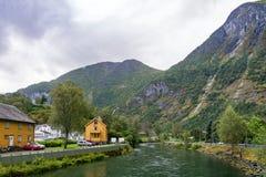 Dorp van Flam in Noorwegen royalty-vrije stock afbeeldingen