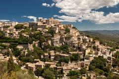 Dorp van Gordes, de Provence, Frankrijk Royalty-vrije Stock Foto's