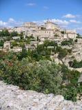 Dorp van Gordes in het zuiden van Frankrijk stock foto's