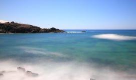 Dorp van Gr Cotillo in het Noorden van Fuerteventura, Canarische Eilanden. Stock Afbeeldingen