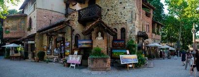 Dorp van Grazzano Visconti Royalty-vrije Stock Fotografie