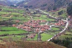 Dorp van groen Spanje Royalty-vrije Stock Afbeelding