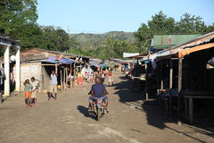 Dorp van Madagascar Stock Foto