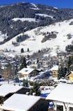 Dorp van Megeve, Franse Alpen Stock Afbeeldingen