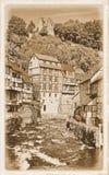 Dorp van Monschau, Eifel, Duitsland royalty-vrije stock afbeeldingen