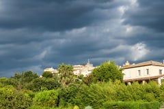 Dorp van Mougins de Provence Stock Afbeeldingen