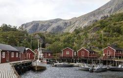 Dorp van Noorwegen Stock Afbeelding