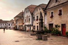 Dorp van Radovljica Stock Foto's
