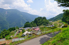 Dorp van Shimoguri stock afbeelding
