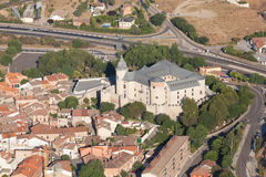 Dorp van Simancas, Valladolid, Spanje royalty-vrije stock foto's
