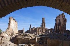 Dorp vernietigde Belchite royalty-vrije stock foto