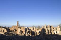 Dorp vernietigde Belchite stock foto's