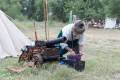 Dorp Vesele, Nova Kakhovka, de Oekraïne, 9 Juli 2018, royalty-vrije stock foto's